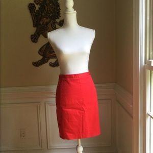 EXPRESS Red Cotton Knee Length Skirt Sz.10